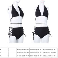 Sexy Push Up Women Solid Bandage Backless Sexy High Waist Bikini Set Swimsuit Swimwear Beach Suit Biquini Bathing Suits Hot Sale